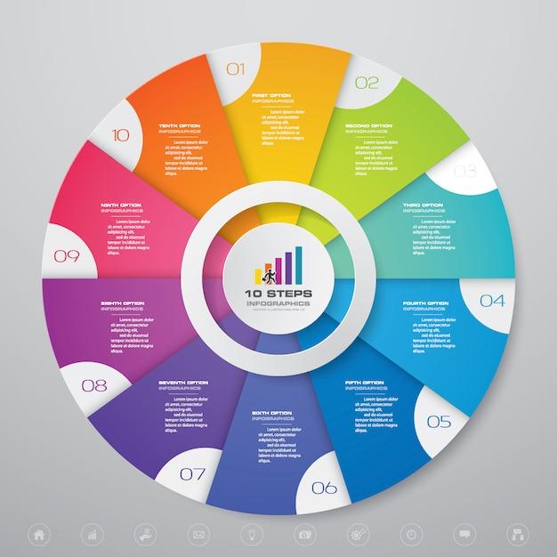 Infografika wykresu do prezentacji danych Premium Wektorów
