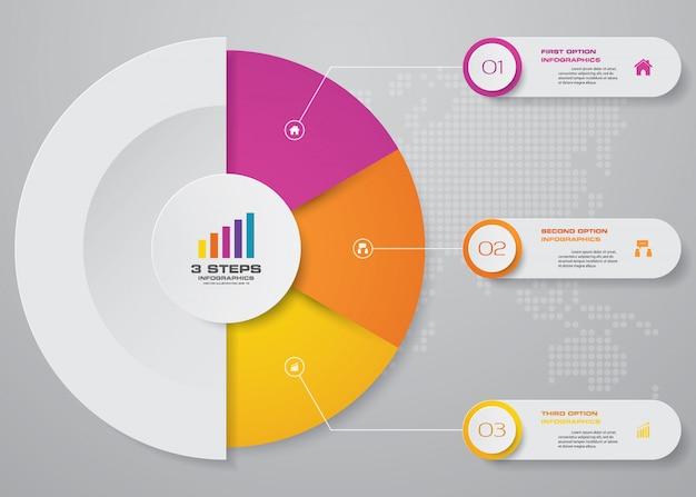 Infografika Wykresu Prezentacji Premium Wektorów