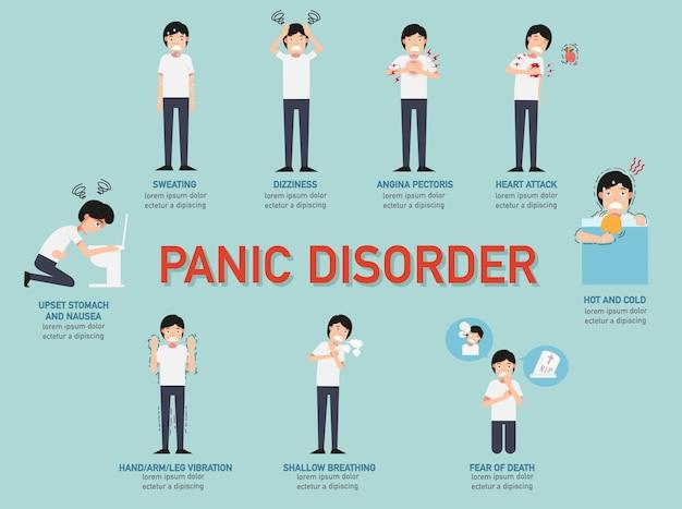 Infografika zaburzenia paniki Premium Wektorów