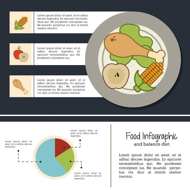 Infografika żywności Premium Wektorów
