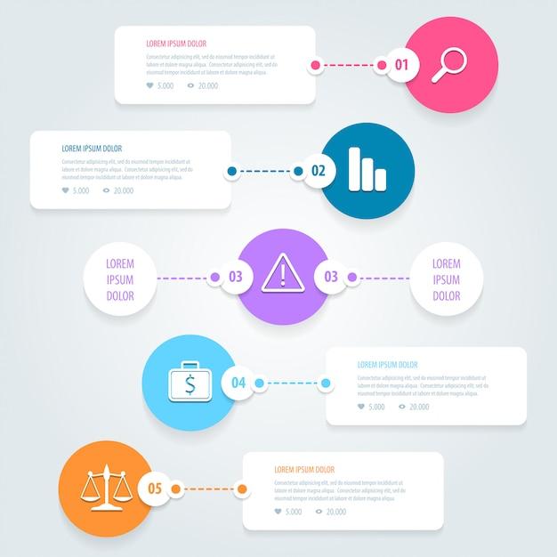 Infografika Premium Wektorów
