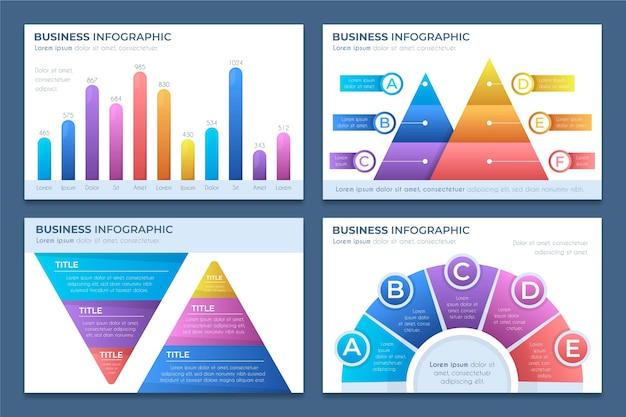 Infografiki Biznesowe Gradientu Premium Wektorów