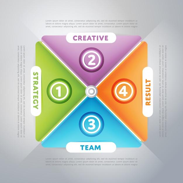 Infografiki biznesowe Premium Wektorów