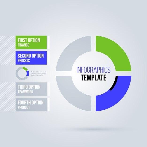 Infografiki Ciasto Szablon Premium Wektorów