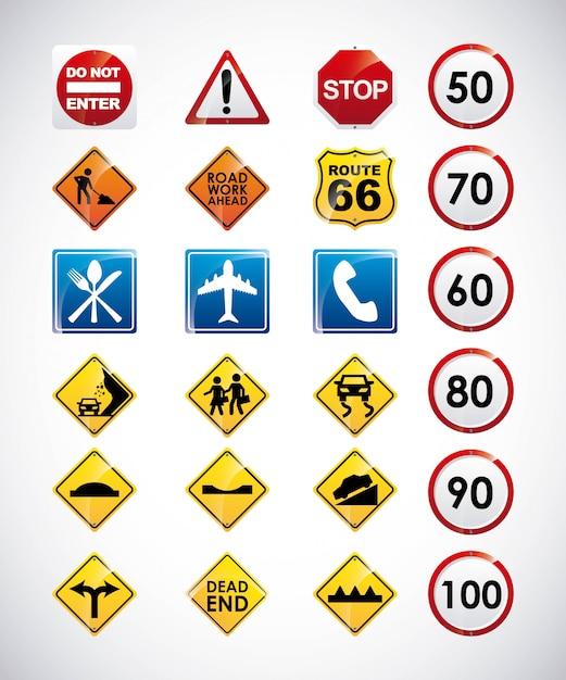 Infografiki drogowe Premium Wektorów