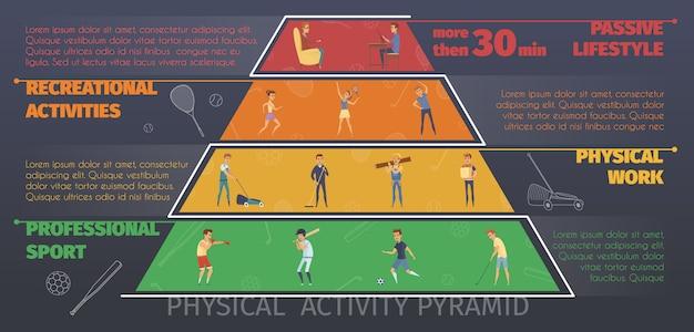 Infografiki kolorowe aktywny tryb życia Darmowych Wektorów