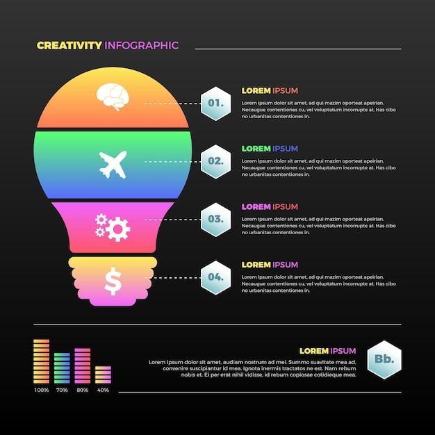 Infografiki Kreatywności Gradientu Premium Wektorów