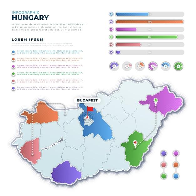 Infografiki Mapy Gradientu Węgier Darmowych Wektorów