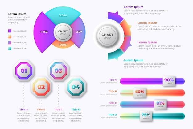 Infografiki Marketingowe Gradientu Darmowych Wektorów