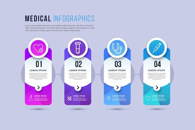 Infografiki Medyczne Gradientu Darmowych Wektorów