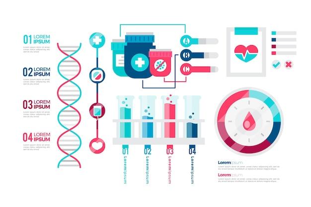 Infografiki Medyczne Płaski Kolorowy Projekt Darmowych Wektorów