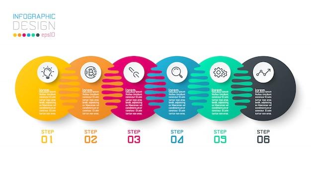 Infografiki Sic Harmonijnego Koła. Premium Wektorów