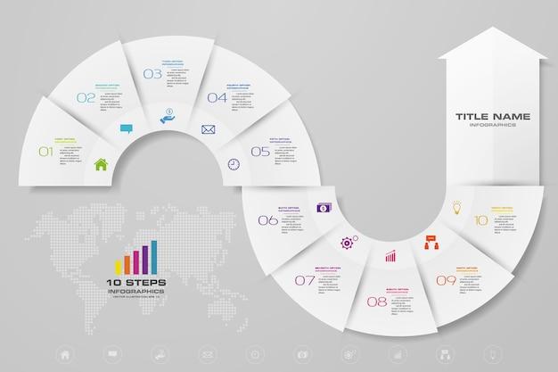 Infografiki Strzałka Elementu Wykresu. Premium Wektorów