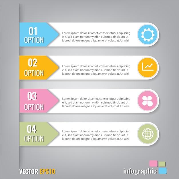 Infografiki Szablon 4 Kroki Element Projektu Zaproszenia Biznesowe