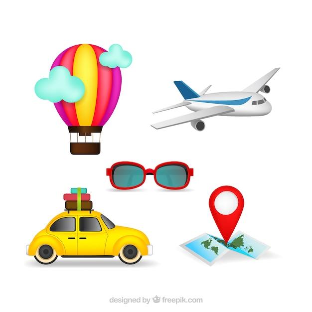 Infografiki Transportowe I Elementy Podróży Darmowych Wektorów