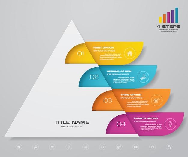 Infografiki wykres piramidy Premium Wektorów