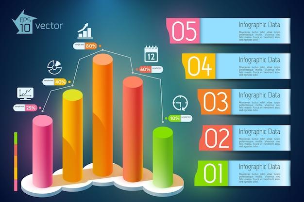 Infografiki Wzrostu Gospodarczego Darmowych Wektorów