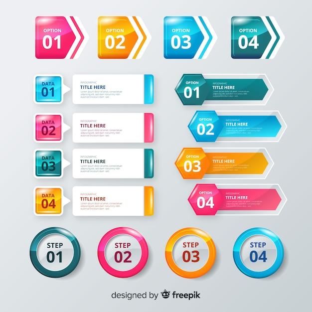 Infographic element collectio Darmowych Wektorów