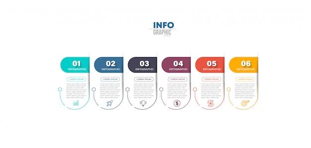 Infographic Element Z Krokami Ilustracyjnymi Premium Wektorów