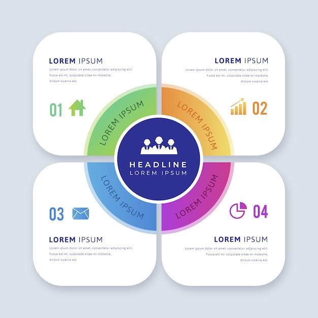 Infographic element z opcjami Darmowych Wektorów