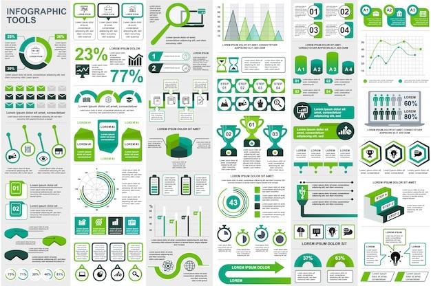 Infographic elementów danych wizualizacji wektor szablon projektu Premium Wektorów