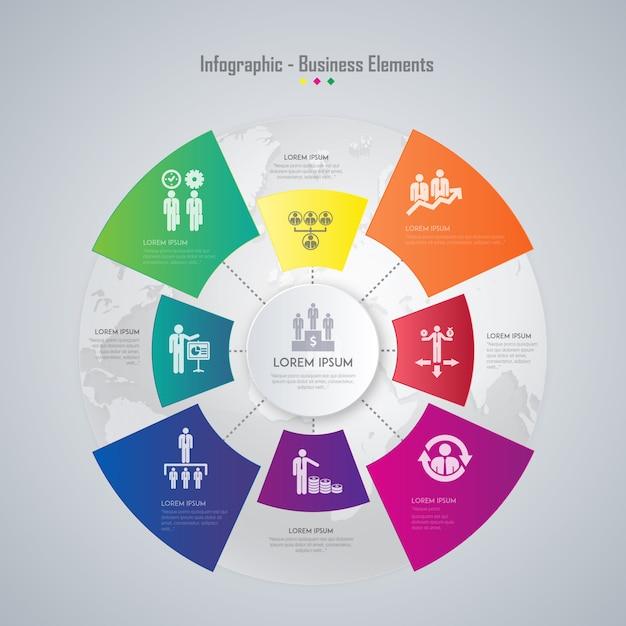 infographic elementy biznesu Darmowych Wektorów