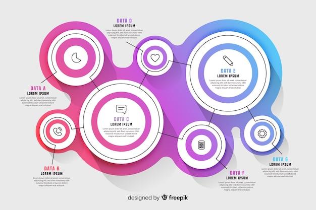 Infographic kroki kolekcja płaska Darmowych Wektorów