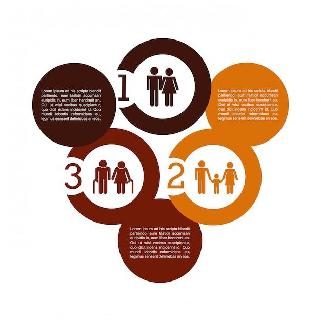 Infographic Projekt Nad Białą Tło Wektoru Ilustracją Premium Wektorów