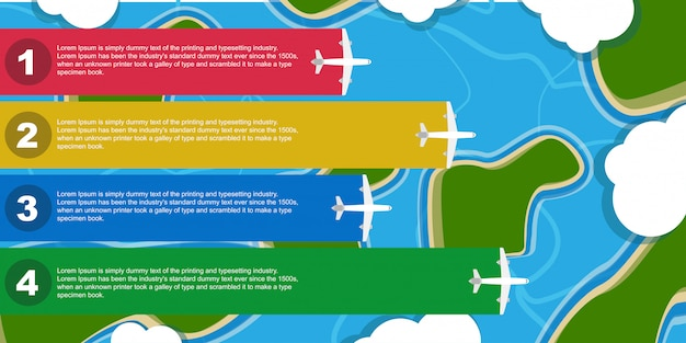 Infographic Samolotu Ilustracyjna Biznesowa Podróż. Element Transparentu Szablonu Samolotu. Karta Informacyjna Z Płaską Informacją Premium Wektorów