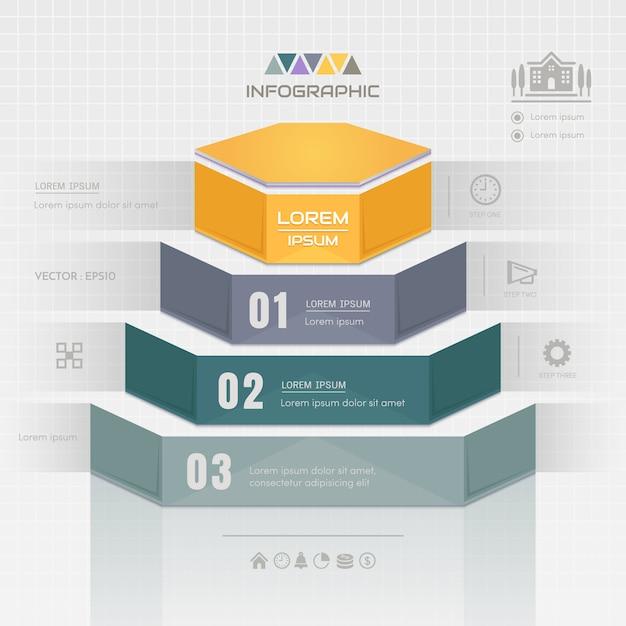 Infographics projekta szablon z biznesowymi ikonami Premium Wektorów