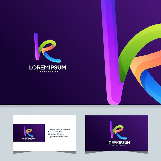 Inicjał Internetowy K Tech List Premium Wektorów