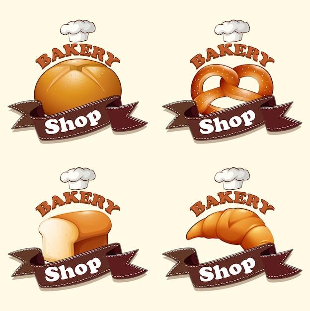 Inny Rodzaj Chleba I Znaków Darmowych Wektorów