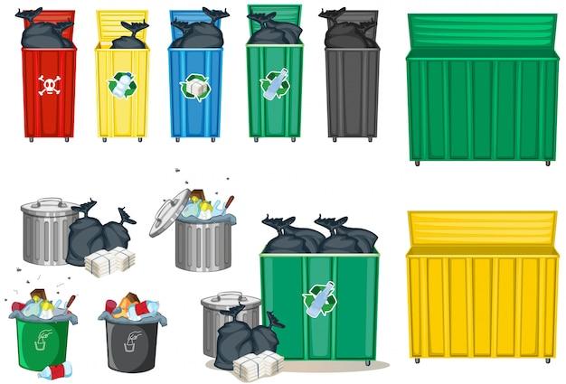 Inny Rozmiar Kosza Na śmieci Darmowych Wektorów