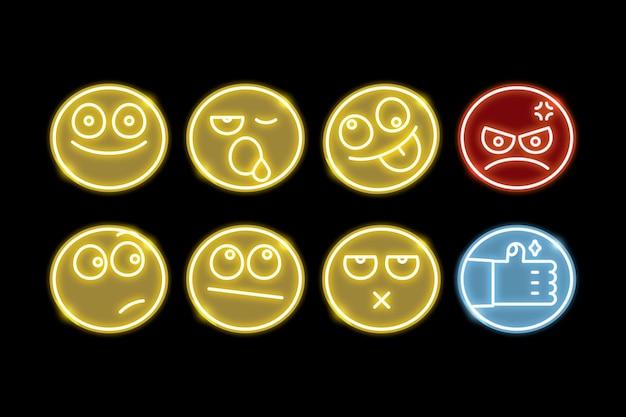 Inny zestaw emotikonów Darmowych Wektorów