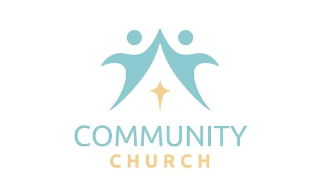 Inspiracja Do Projektowania Logo Wspólnoty Kościelnej Premium Wektorów