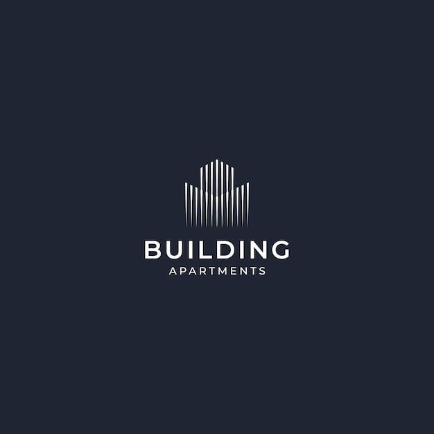Inspiracja logo design budynek elegancki Premium Wektorów