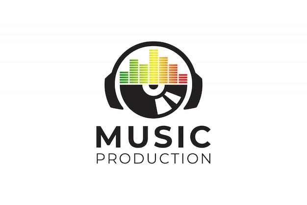 Inspiracja logo soundwave Premium Wektorów