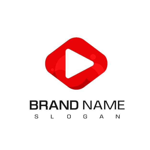 Inspiracja Projektowa Logo Odtwarzacza Multimedialnego Premium Wektorów