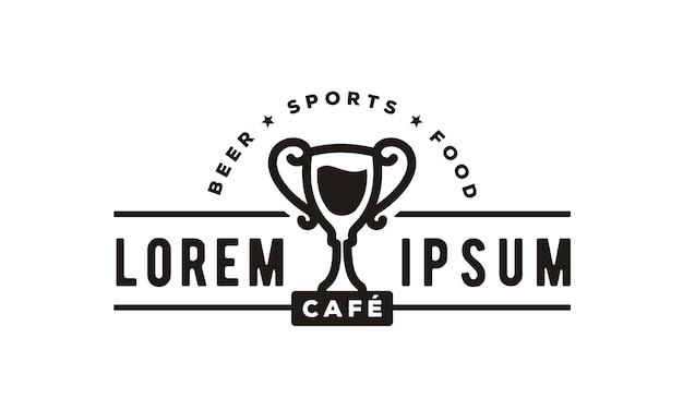 Inspiracje Do Projektowania Logo Sport Bar Premium Wektorów
