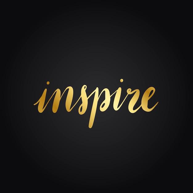 Inspirować wektor styl typografii słowa Darmowych Wektorów
