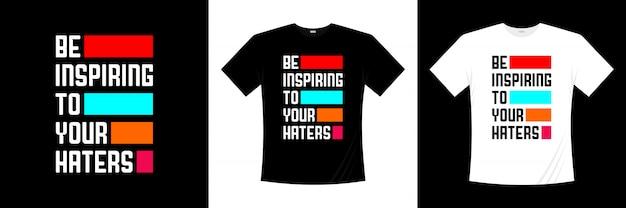 Inspiruj Stylizacją Koszulki Typograficznej Premium Wektorów
