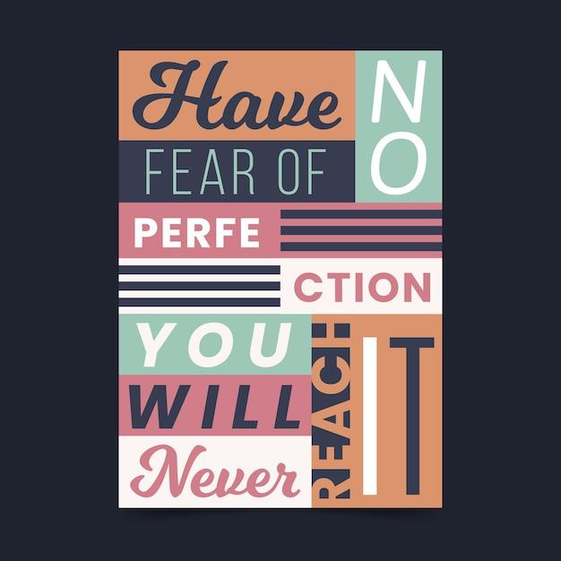 Inspirujący Cytat Typograficzny Plakat Premium Wektorów