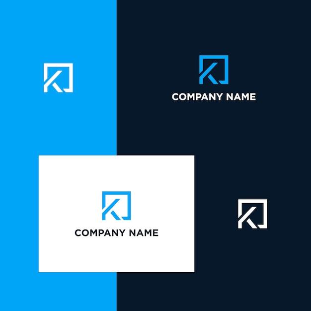 Inspirujący Projekt Logo Litera K Premium Wektorów