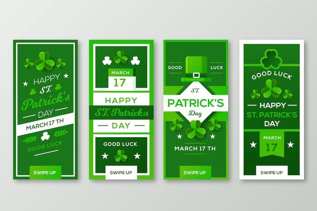 Instagram St Patrick Day Collection Collection Darmowych Wektorów