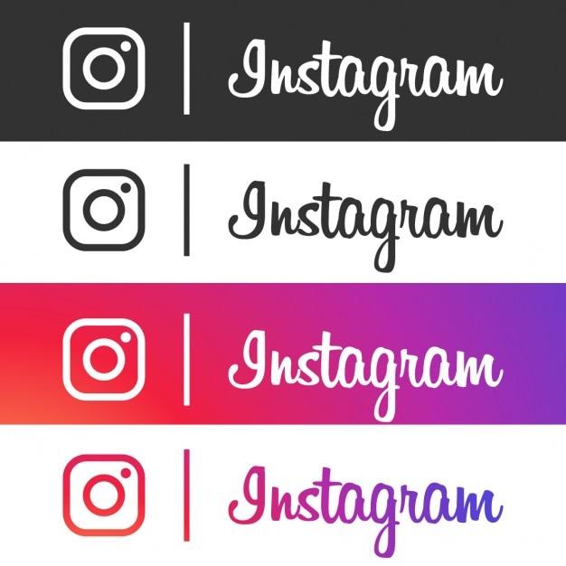 Instagram zbiór ikon Darmowych Wektorów