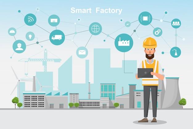 Inteligentna Produkcja Automatyczna Premium Wektorów