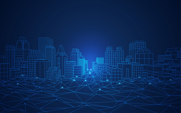 Inteligentne Koncepcje Miasta Premium Wektorów