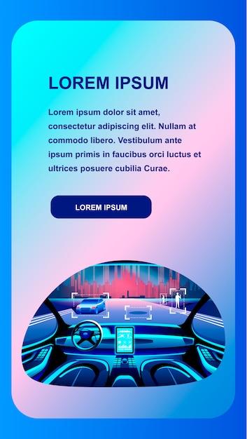 Inteligentne Wnętrze Samochodu Premium Wektorów