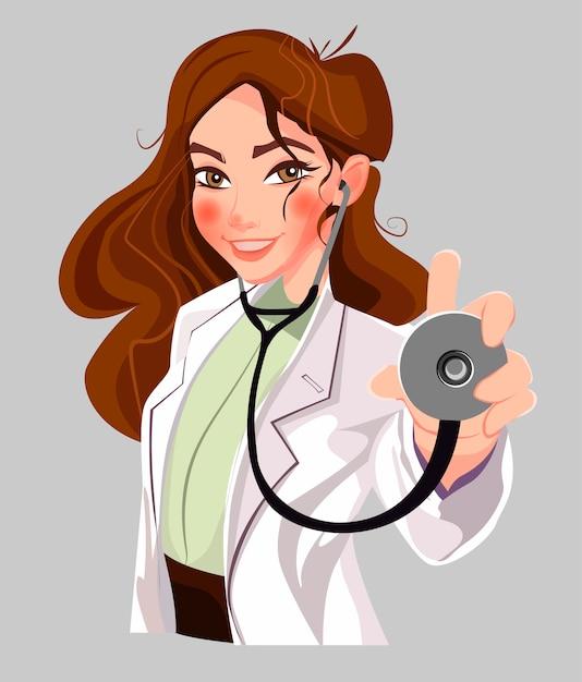 Inteligentny lekarz Premium Wektorów