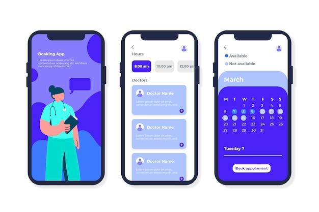 Interfejs Aplikacji Rezerwacji Medycznej Darmowych Wektorów